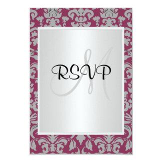 Damask Wedding RSVP Personalized Invite
