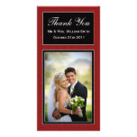 Damask Wedding Thank You Card Photo Cards