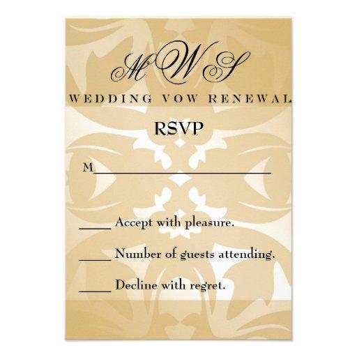 standard wedding rsvp size