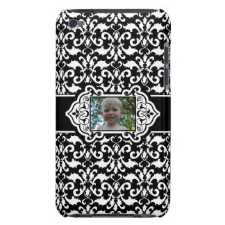 Damask White and Black Customizable Photo iPod Touch Cover