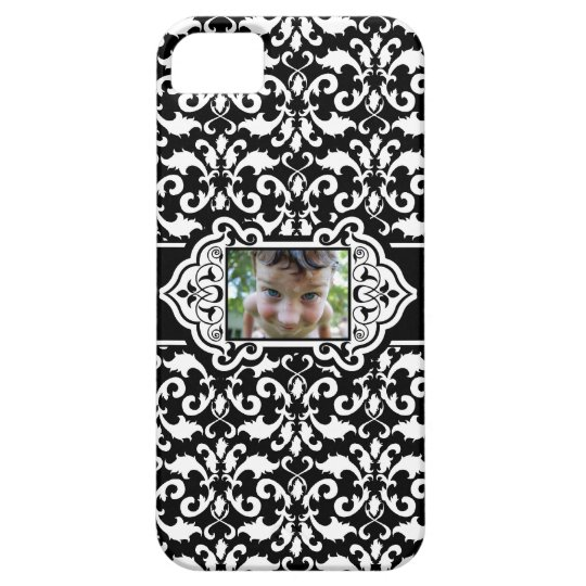 Damask White and Black iPhone SE/5/5s Case