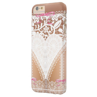 Damask White Lace Corset Lingerie Barely There iPhone 6 Plus Case
