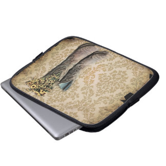Damask wildflower Western country cowboy boots Laptop Sleeve