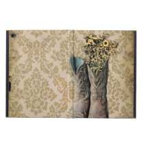 Damask wildflower Western country cowboy boots Powis iPad Air 2 Case