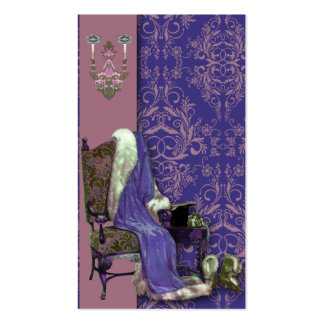 Damask Wildflowers, AFTER THE OPERA in Purple Double-Sided Standard Business Cards (Pack Of 100)