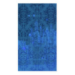 Damask Wildflowers, Angel's Castle in Blue Business Cards