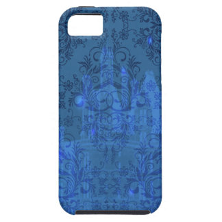 Damask Wildflowers, Angel's Castle in Blue iPhone 5 Cases
