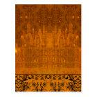 Damask Wildflowers, ANGEL'S CASTLE in Orange Postcard