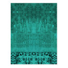 Damask Wildflowers, ANGEL'S CASTLE in Turquoise Postcard