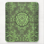 Damask Wildflowers, BOOK COVER in Olive Mousepads