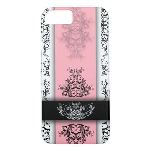 Damask Wildflowers, CELINE in Pink & White iPhone 8/7 Case
