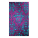 Damask Wildflowers, ELECTRA Double-Sided Standard Business Cards (Pack Of 100)