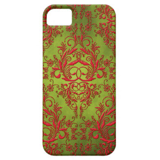 Damask Wildflowers, Electra in Chartreuse and Red iPhone SE/5/5s Case