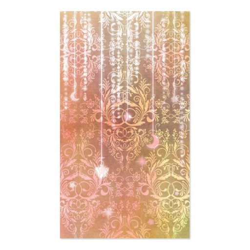 Damask Wildflowers, Madam Valeska in Orange Business Card Templates