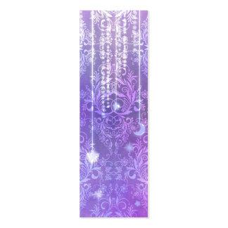 Damask Wildflowers, MADAM VALESKA in Purple Business Card Template