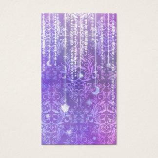Damask Wildflowers, MADAM VALESKA in Purple Business Card