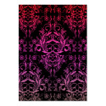 Damask Wildflowers, MIDNIGHT MASQUERADE Business Card Templates