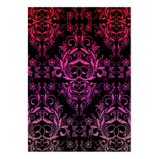 Damask Wildflowers, MIDNIGHT MASQUERADE Large Business Card