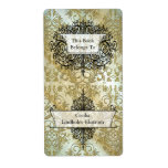 Damask Wildflowers, Morning Stars in Gold Label
