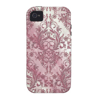 Damask Wildflowers Morning Stars in Rose Case-Mate iPhone 4 Cases
