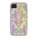 Damask Wildflowers, Party Lights in Pink & Yellow Case-Mate iPhone 4 Cover