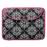 damask with changeable background color MacBook pro sleeve