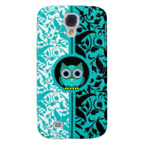 damask with owl galaxy s4 cover