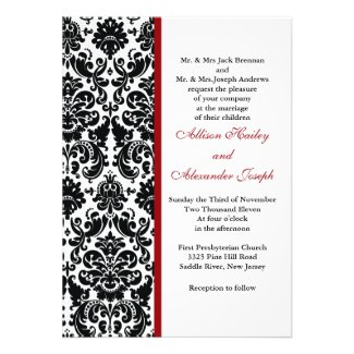 damask invitations