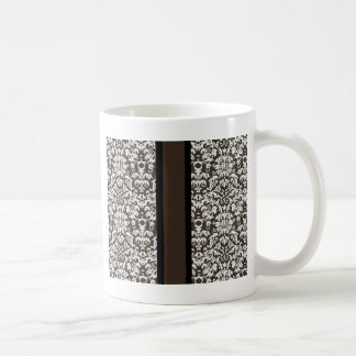 Damask With Stripe Coffee Mug