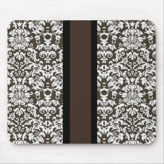 Damask With Stripe Mouse Pad