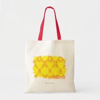 Damask Yellow-Orange 2 Tote Bag