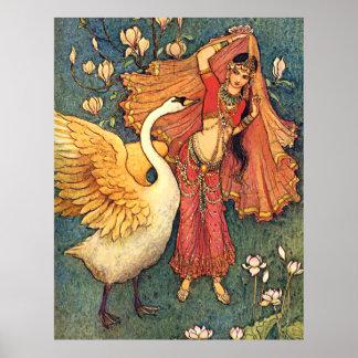 Damayanti y el cisne póster