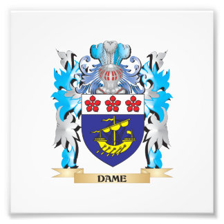 Dame Coat of Arms - Family Crest Photo Art