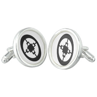 Dame Dame | Symbol for Intelligence and Ingenuity Cufflinks