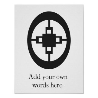 Dame Dame | Symbol for Intelligence and Ingenuity Poster