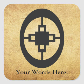 Dame Dame | Symbol for Intelligence and Ingenuity Square Sticker