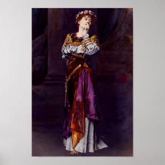 Dame Ellen Terry as Imogen - Alma-Tadema Poster