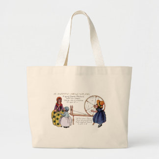 Dame Fortune's Lucky Spinning Wheel New Year Large Tote Bag