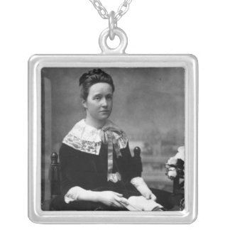 Dame Millicent Fawcett, c.1880 Silver Plated Necklace