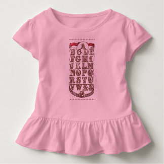 Dame Wonders Alphabet Toddler Ruffle Tee