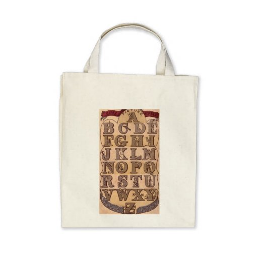 Dame Wonder's Amusing Alphabet Canvas Bags