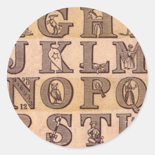 Dame Wonder's Amusing Alphabet Stickers