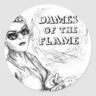 Dames of the Flame Classic Round Sticker