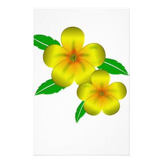 Damiana yellow flowers stationery