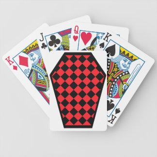 Damier Ebony Ruby Playing Cards