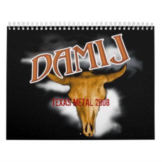 DAMIJ, calendario del METAL 2008 de TEJAS