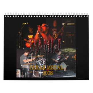 DAMIJ -SMALLTEXAS METAL   2008 Calendar