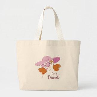 Damisela de la diva bolsas lienzo