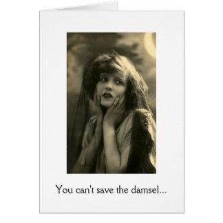 Damisela en la desolación felicitación