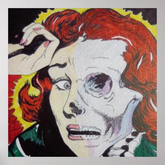 Damisela en macabro póster